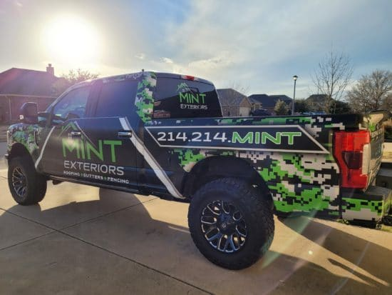 mint Exteriors Truck Wrap